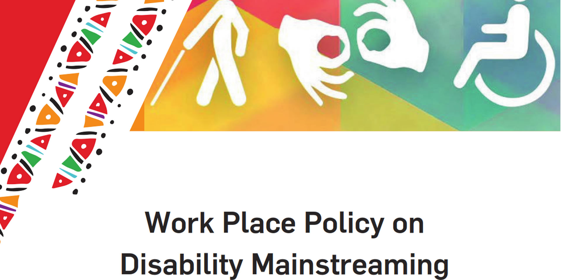 Work Place Policy on Disability Mainstreaming